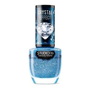 Esmalte Vegano Studio 35 Mardo Caribe Coleção Crystal Effect III 9ml - 6 Unidades