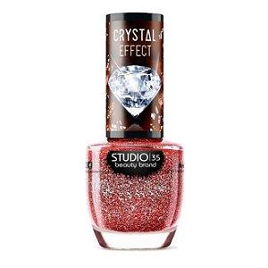 Esmalte Vegano Studio 35 Ruby Precioso Coleção Crystal Effect III 9ml - 6 Unidades