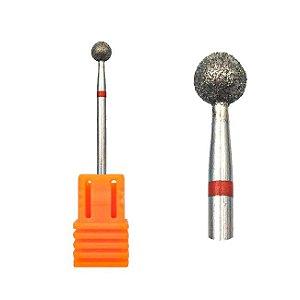 Broca Esférica para Polimento Profissional Unhas Gel Acrigel Fibra 3/32 - 3 Unidades