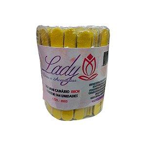 Lixa Lady Canário  8 cm 144 Unidades - 3 Unidades