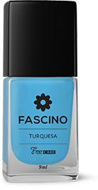 Esmalte Fascino 3 Free Turqueza Caixa Com 6
