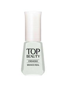 Esmalte Top Beauty Cremoso Branco Real  (Caixa com 6)