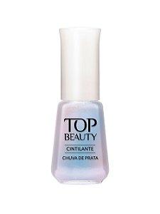 Esmalte Top Beauty Cintilante Chuva de Prata(Caixa com 6)