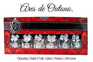 Coleção Esmaltes Diva Cores de Outono Kit com 6 Lindo Estojo.