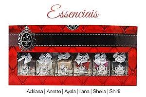 Coleção Esmaltes Diva Essenciais Kit com 6 Lindo Estojo.