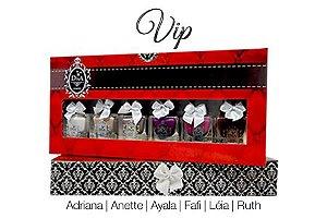 Coleção Esmaltes Diva Vip Kit com 6 Lindo Estojo.