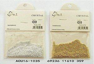 Caviar Gigante  Para Joia de Unha 1032 nas Cores Prata e Ouro (1 Dúzia)