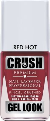 Esmalte Crush Red Rot Gel Look Caixa com 6