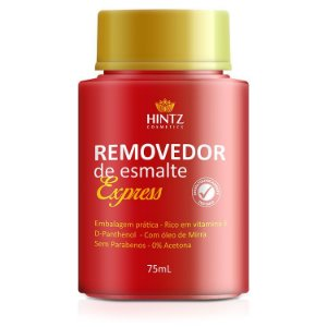 REMOVEDOR DE ESMALTE EXPRESS HINTZ-NAILS 75ML (CAIXA COM 3)