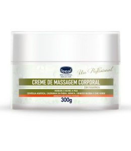 Creme de massagem corporal coco e vitamina E ideal 300g