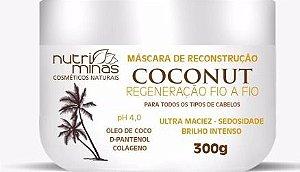 mascara de reconstrução coconut nutriminas - 3 unidades