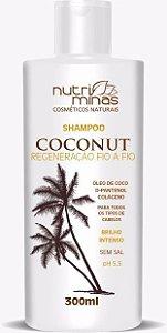 shampoo coconut nutriminas 300ml - 3 unidades