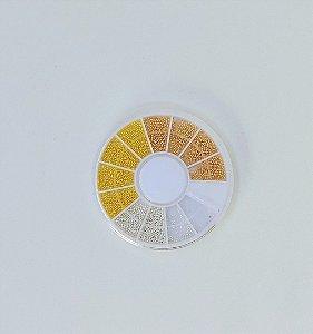 caviar dourado e branco com 12 compartimentos - 3 unidades