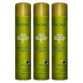 Spray Secante Para Esmalte Inoar - 3 unidades