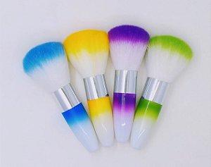 Espanador para unhas com varias cores - 3 unidades