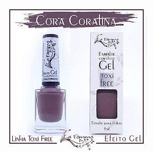 Esmalte Lafemme Efeito Gel Tox Free Hipoalergênico Cora Coralina caixa  com 6