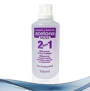 Acetona Forte Profissional 2 em 1 - 100mL - 12 unidades