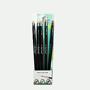 kit Com 5 Pinceis Para Alongamento De Gel Miss Frandy - 3 unidades