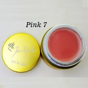 Gel fan nails Pink 7 - 3 unidades