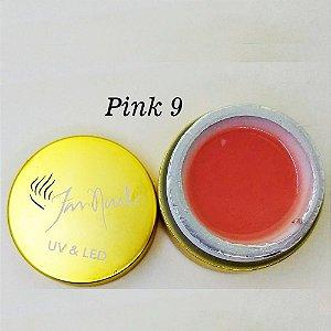 Gel fan nails Pink 9 - 3 unidades