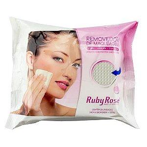 Ruby Rose Lenço Umedecido Removedor Maquiagem - 3 unidades
