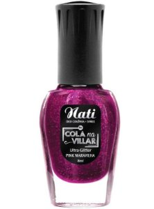 Esmalte Nati Colla na villar Pink Maravilha - 6 unidades
