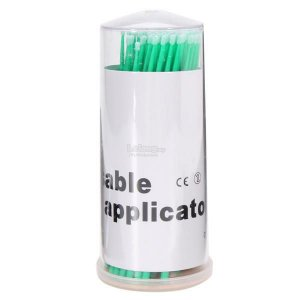 Cotonete bastonete microbrush com 3 potes com 50 unidades cada