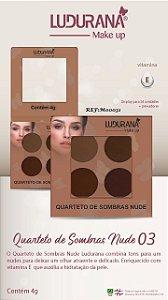 Quarteto De Sombras Nude 3 Ludurana - 3 unidades