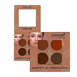 Quarteto De Sombras Ludurana Nude 04 - 3 unidades