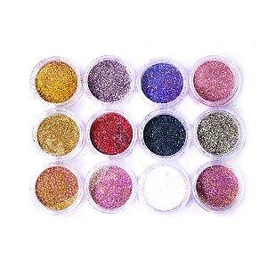 Glitter de luxo para encapsulamento de unha - 3 unidades