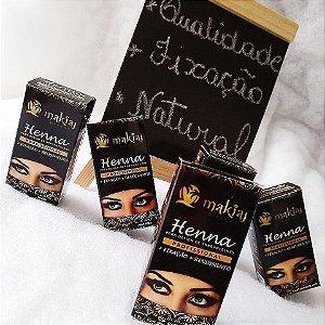 Henna para sobrancelha Makiaj  marrom - 3 unidades