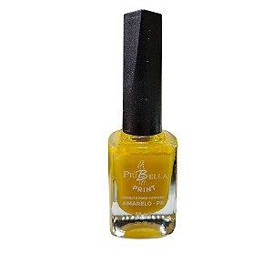 Esmalte amarelo carimbo Piu Bella - 3 unidades