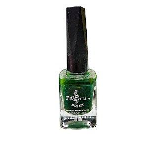 Esmalte verde carimbo Piu Bella - 3 unidades