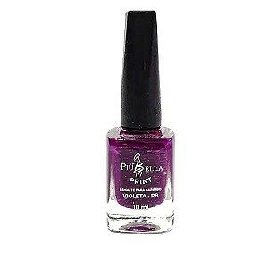 Esmalte violeta carimbo Piu Bella - 3 unidades