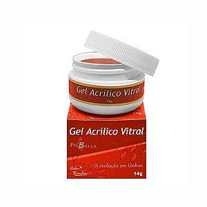 Gel Acrilico Vitral Vermelho Piu Bella - 3 unidades