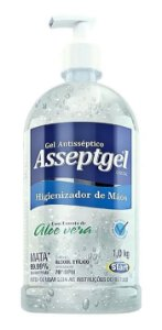 Álcool em Gel Asseptgel Start 1 Litro - caixa com 6