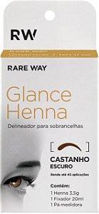 Henna Glance Castanho Escuro - 3 unidades - Atacado