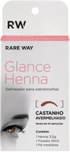 Henna Glance Castanho avermelhado - 3 unidades Atacado
