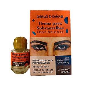 Henna Della Delle Castanho Escuro 3g - 3 Unidades