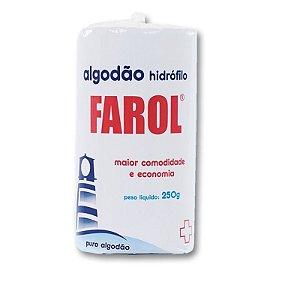 Algodão Farol Hidrófilo 250G - Caixa com 3 unidades