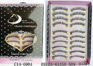 Cílios Postiços 10 pares Mis Frandy C14-0904 - 3 unidades