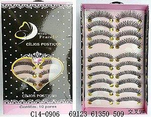 Cílios Postiços 10 pares Mis Frandy C14-0906 - 3 unidades