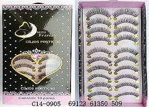 Cílios Postiços 10 pares Mis Frandy C14-905 - Caixa com 3 unidades