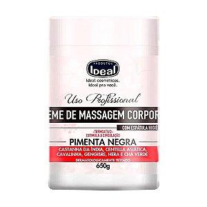 IDEAL CREME DE MASSAGEM CORPORAL COM FRAGRÂNCIA 650G - 3 UNIDADES