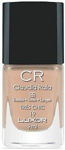 Esmalte Claudia Raia Nude Três Chic - Caixa com 6 unidades