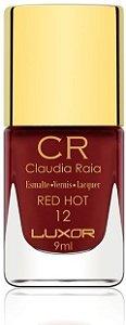 Esmalte Claudia Raia Red Hot - Caixa com 6 unidades