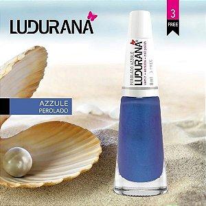 Esmalte Ludurana 3 free Perolado azzule - Caixa com 6 unidades
