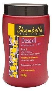 Shambelle Desoxil 2 em 1 Queratina 1000g - Caixa com 3 unidades