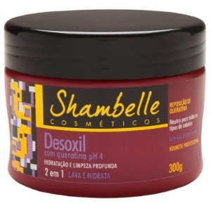Shambelle Desoxil 2 em 1 Queratina 300g - 3 unidades
