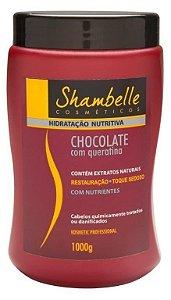 Shambelle Hidratação Nutritiva Chocolate com Queratina 1000g - Caixa com 3 unidades